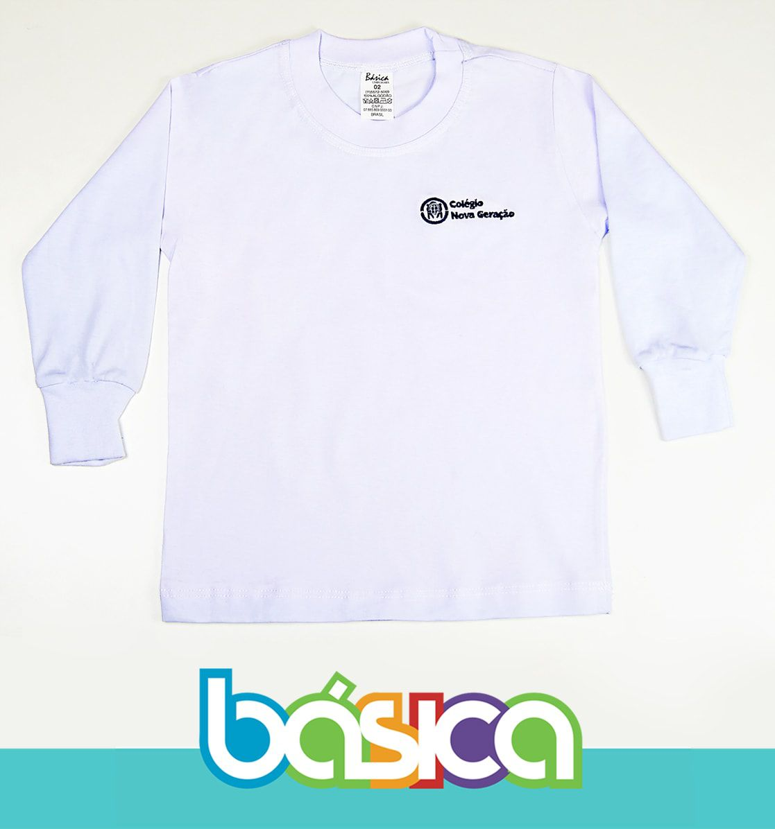 Camiseta Manga Longa Nova Geração  - BÁSICA UNIFORMES