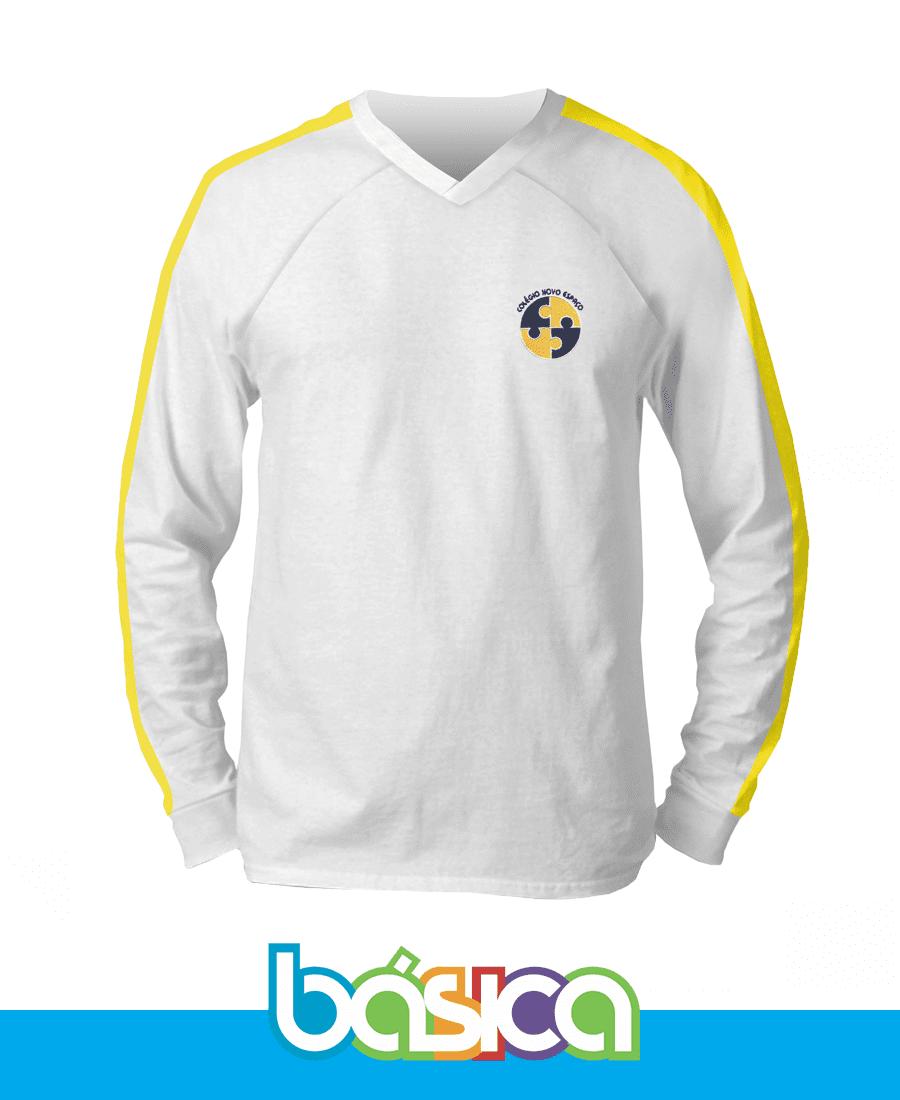 Camiseta Manga Longa - Novo Espaço  - BÁSICA UNIFORMES