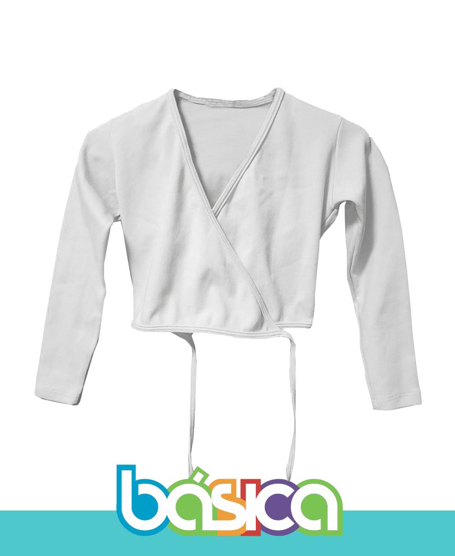 Casaquinho para Ballet Infantil Branco  - BÁSICA UNIFORMES