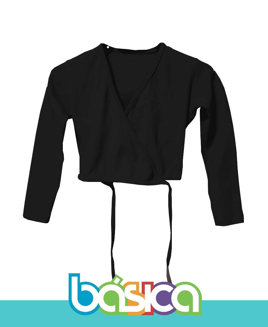 Casaquinho para Ballet Infantil Preto  - BÁSICA UNIFORMES