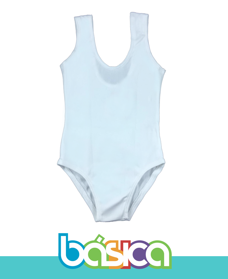 Collant Branco Regata Ballet - Infantil  - BÁSICA UNIFORMES