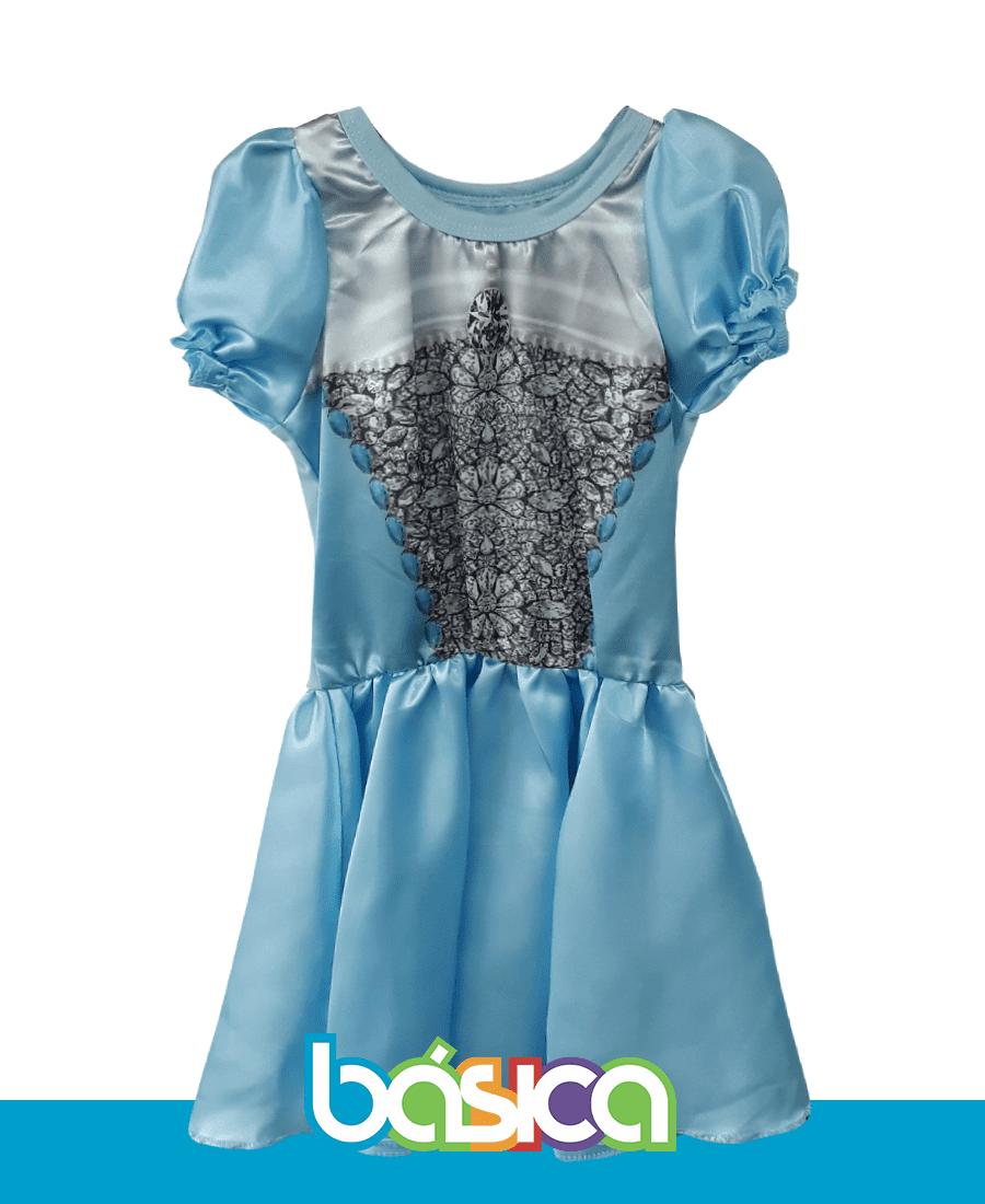 Fantasia Azul de Princesa  - BÁSICA UNIFORMES