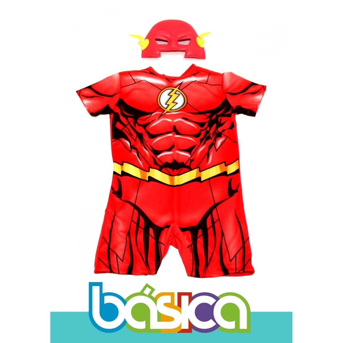 Fantasia do Flash Infantil  - BÁSICA UNIFORMES