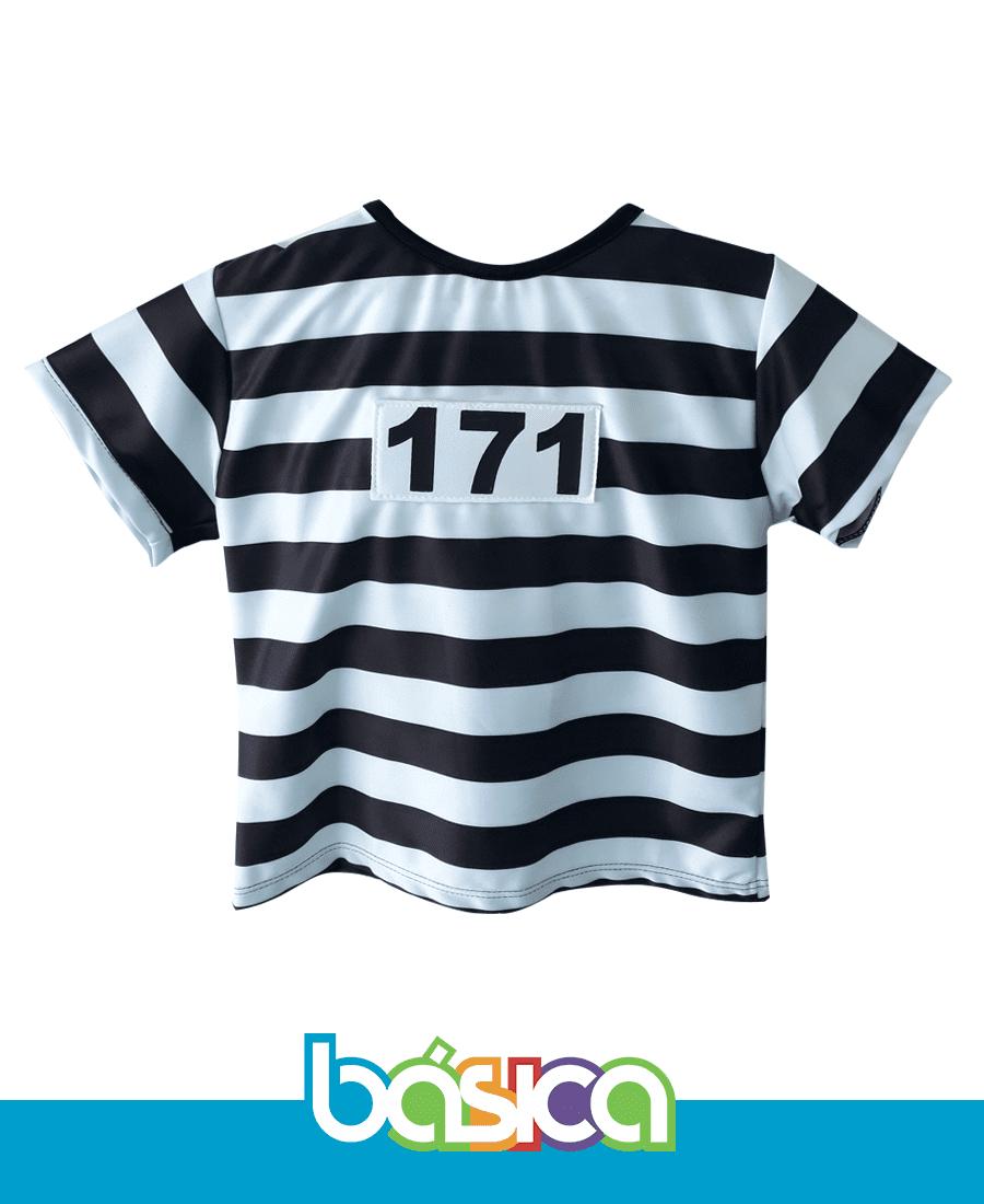 Fantasia Prisioneiro Infantil  - BÁSICA UNIFORMES
