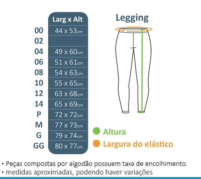 Legging Colégio Brasil Canadá  - BÁSICA UNIFORMES