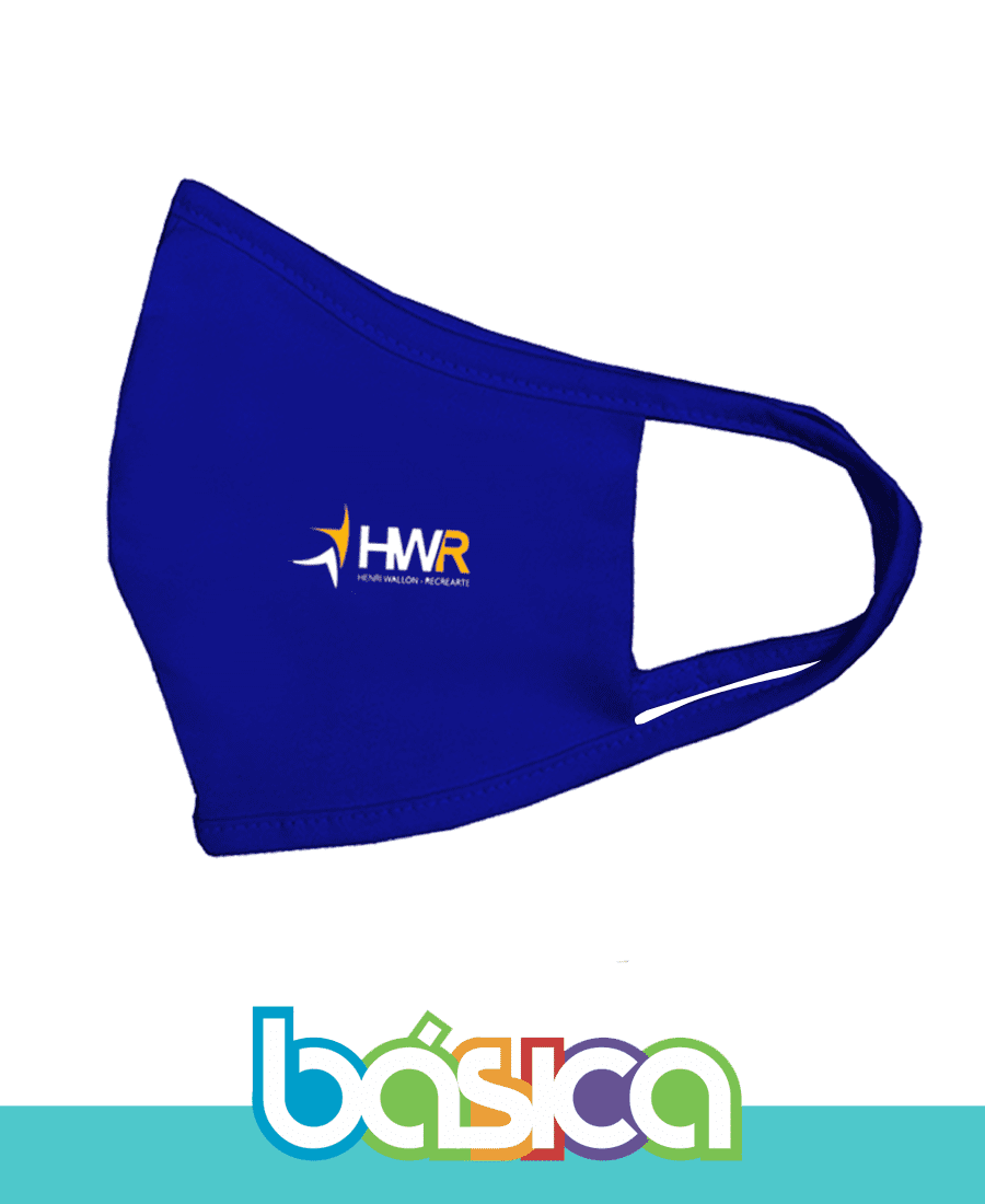 Máscara de Malha Colégio HWR  - BÁSICA UNIFORMES