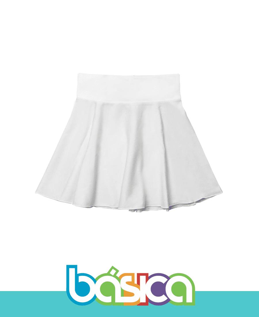 Saia com Cós para Ballet Infantil Branca  - BÁSICA UNIFORMES