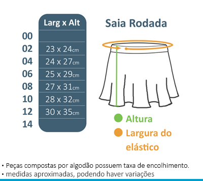 Saia Rodada - Novo Espaço  - BÁSICA UNIFORMES