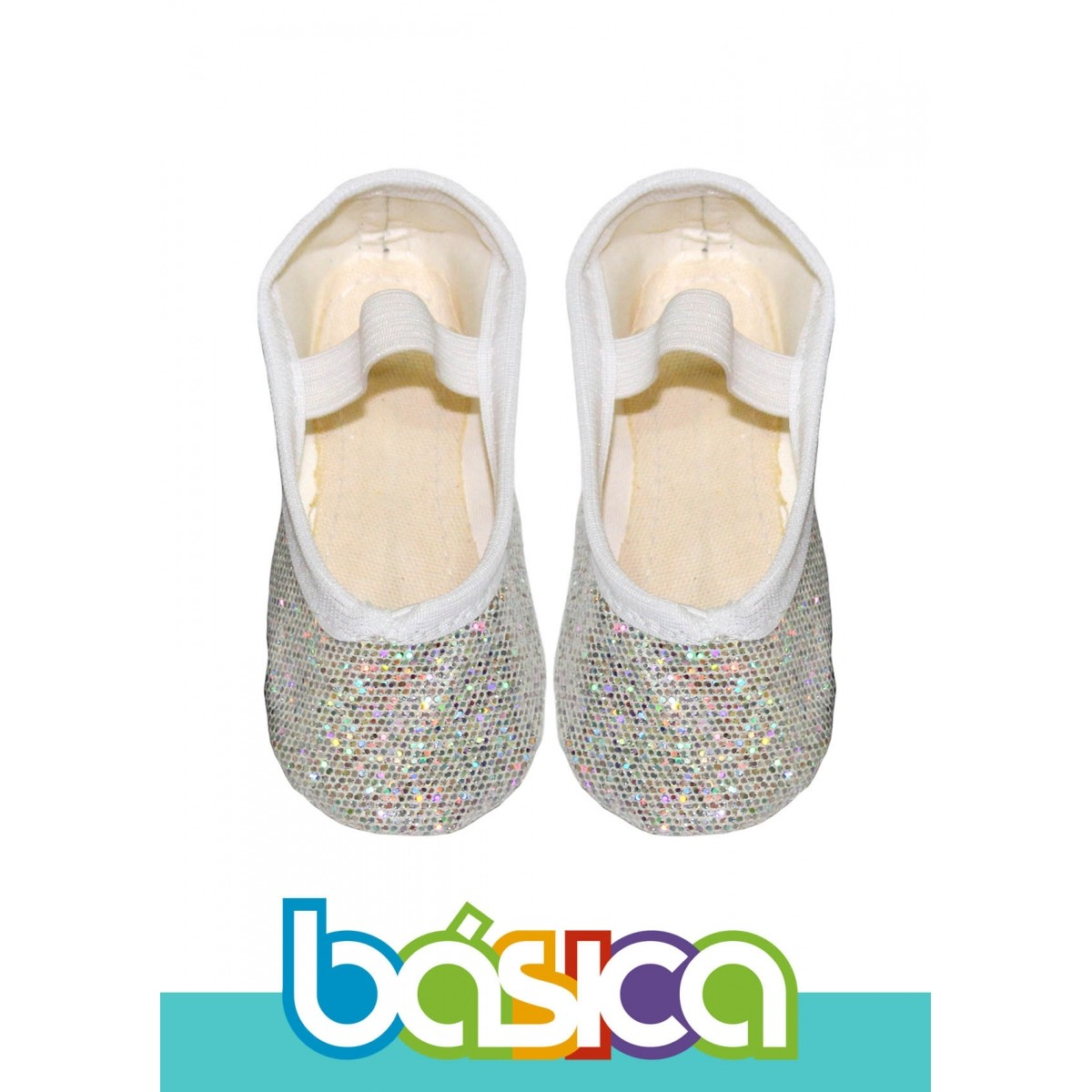 Sapatilha Para Ballet Branco Brilho  - BÁSICA UNIFORMES