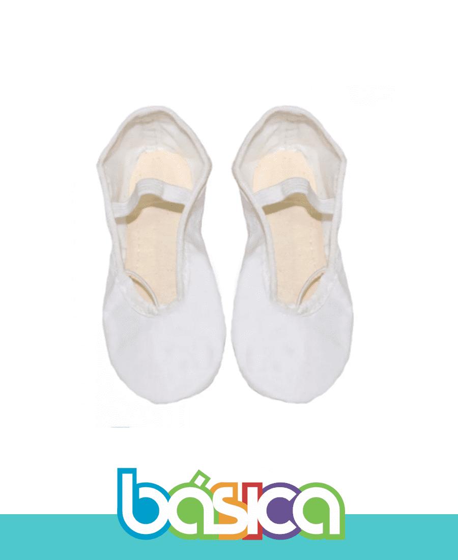 Sapatilha Para Ballet Branco Sintético Brasil Canadá  - BÁSICA UNIFORMES
