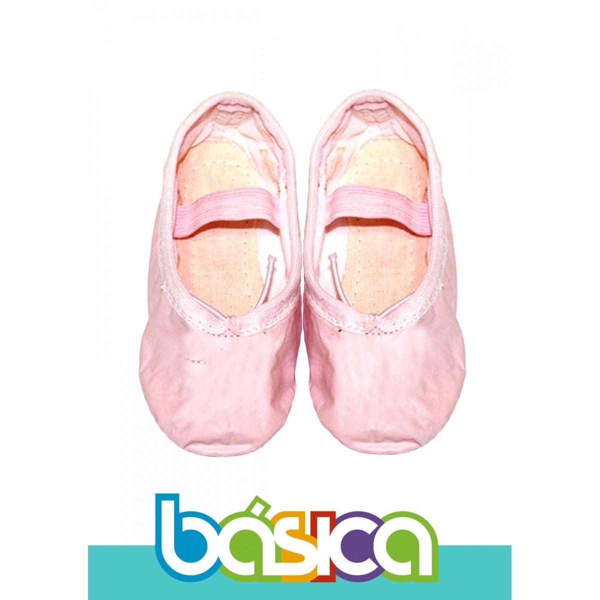 Sapatilha Para Ballet Rosa Sintético  - BÁSICA UNIFORMES