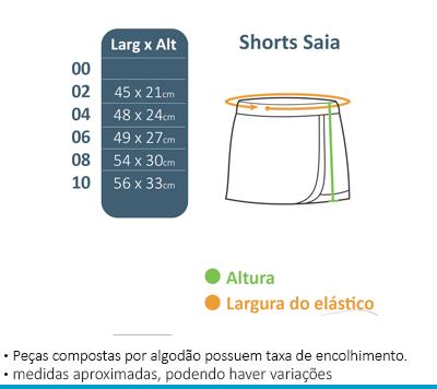 Shorts Saia Colégio Brasil Canadá  - BÁSICA UNIFORMES