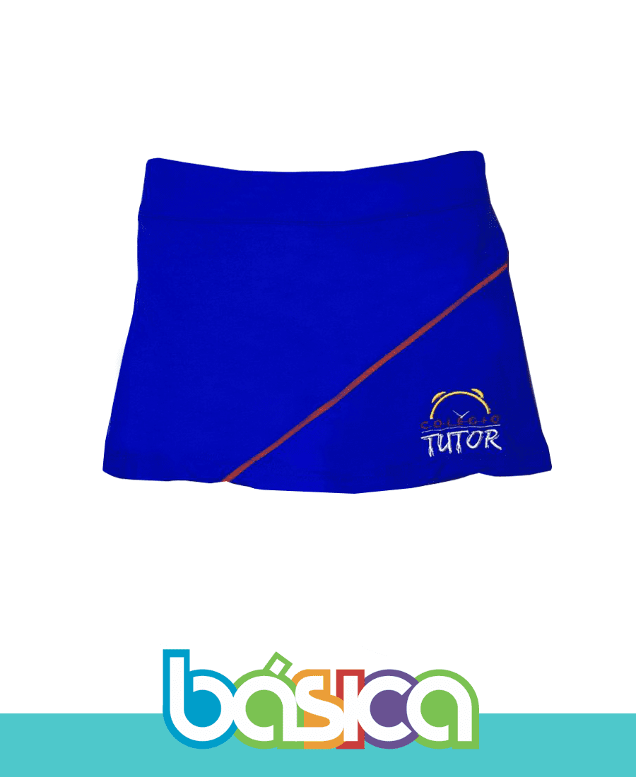 Shorts Saia - Colégio Tutor School  - BÁSICA UNIFORMES