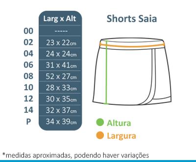 Shorts Saia - Colégio Tutor School  - BÁSICA UNIFORMES