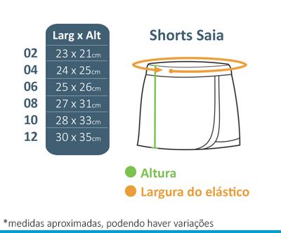 Shorts Saia - Diáspora  - BÁSICA UNIFORMES