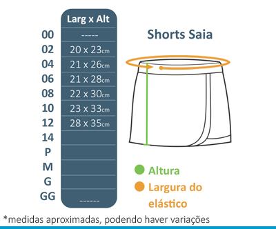 Shorts Saia Seletel Oshiman  - BÁSICA UNIFORMES