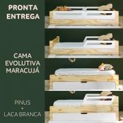 PRONTA ENTREGA: CAMA EVOLUTIVA BICAMA MARACUJÁ - NATURE PINUS E LACA