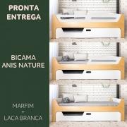 PRONTA ENTREGA:  BICAMA ANIS - NATURE MARFIM  TAMANHO SOLTEIRO PADRÃO - PARA COLCHÕES: 88cmx188cm