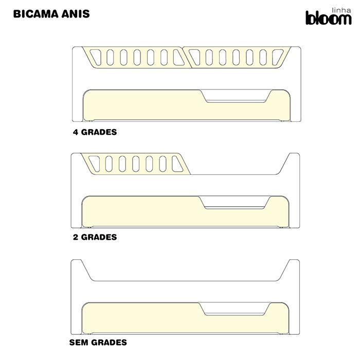 BICAMA ANIS LACA - BRANCA +  VÁRIAS CORES DISPONÍVEIS