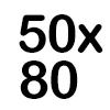 50x80x50 BRANCA