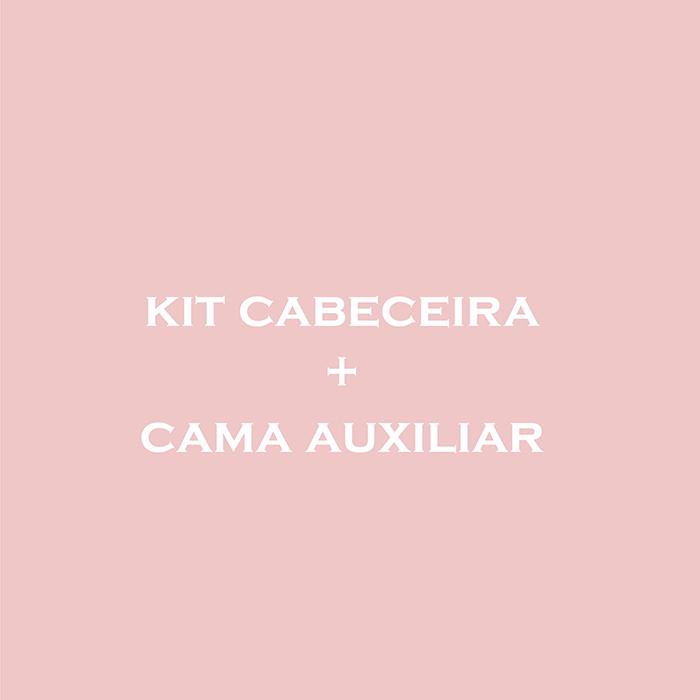 KIT CABECEIRA E CAMA AUXILIAR - CAMA MARACUJÁ