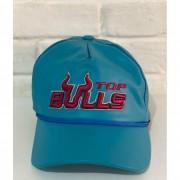 Boné Country Top Bulls Couro Azul Turquesa/Vinho 1010215