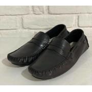Sapato Masculino Dock Side Prata Couro 1010572 Preto