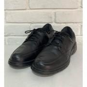 Sapato Prata Couro Com Amarra Preto 1009957