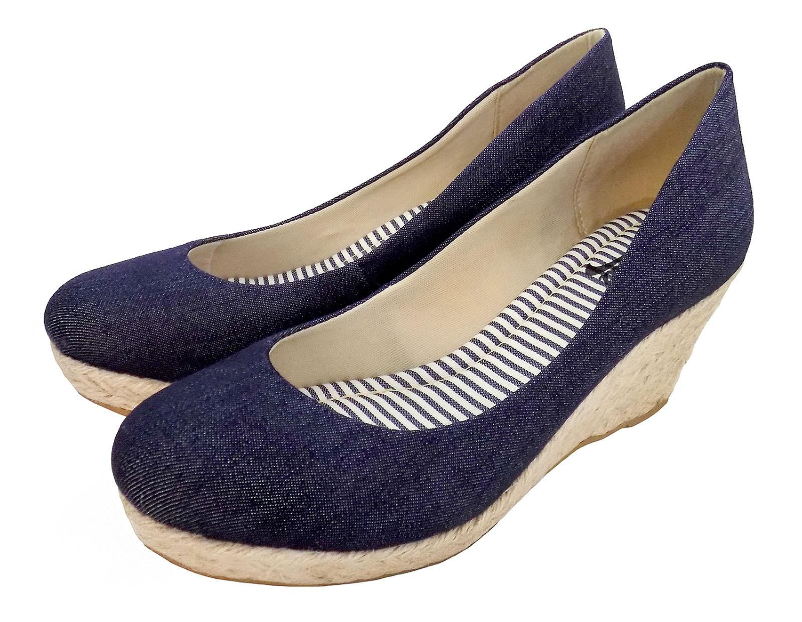 Anabela Feminino Prata 1009229 Jeans