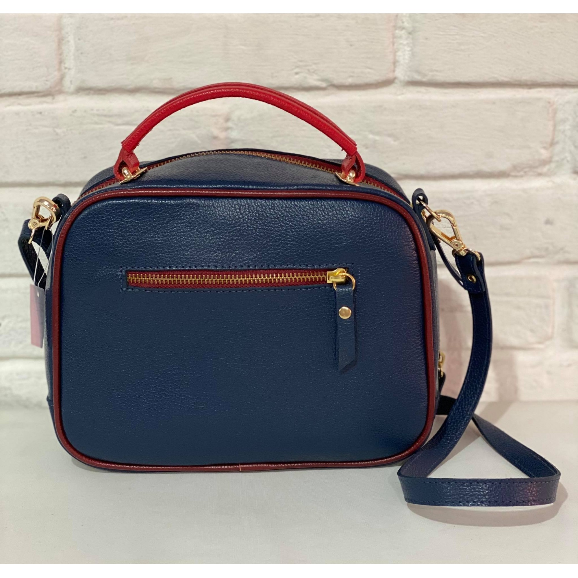 Bolsa Lastucci Transversal 1010840b Azul e Vermelho