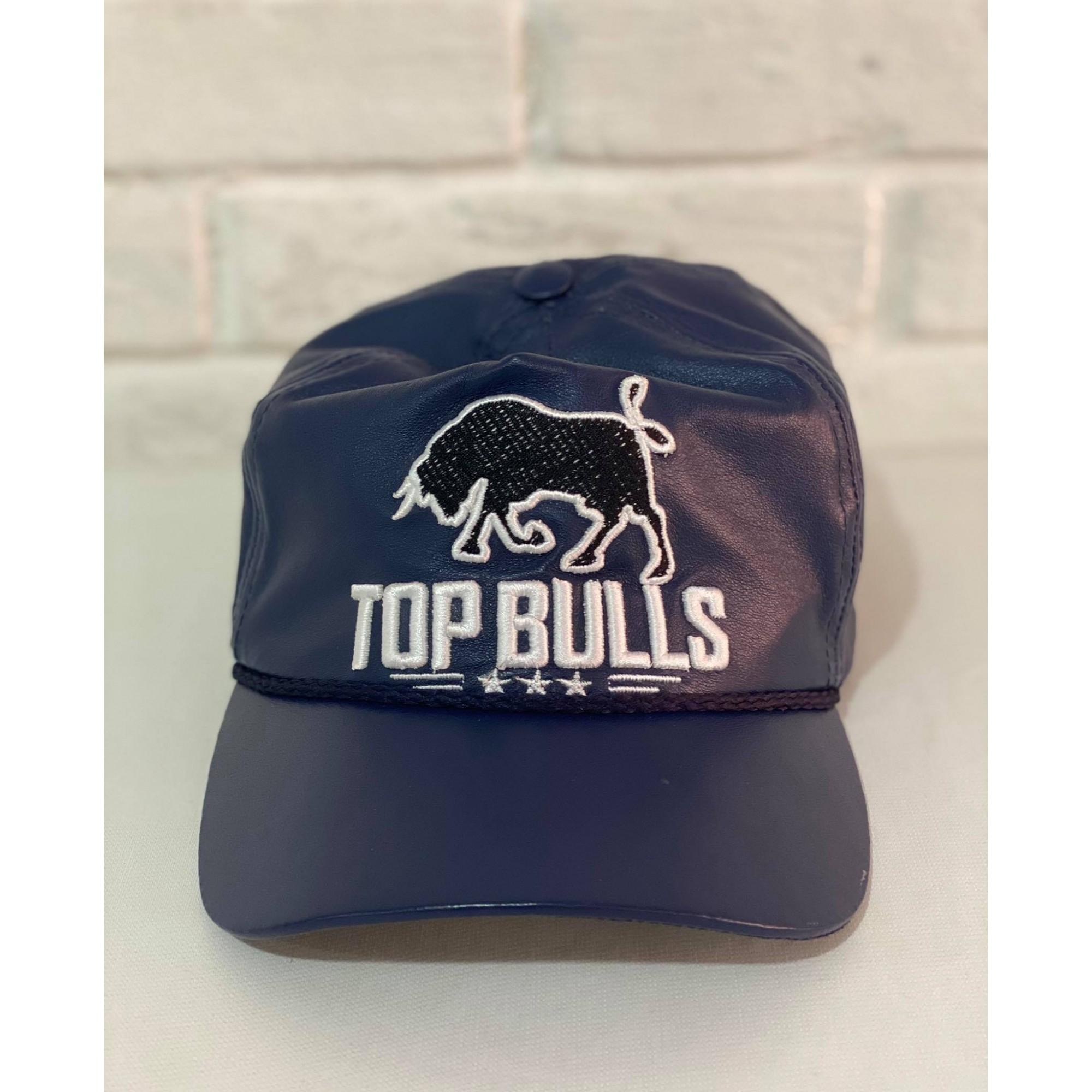 Boné Country Top Bulls Couro Azul Marinho 1010215