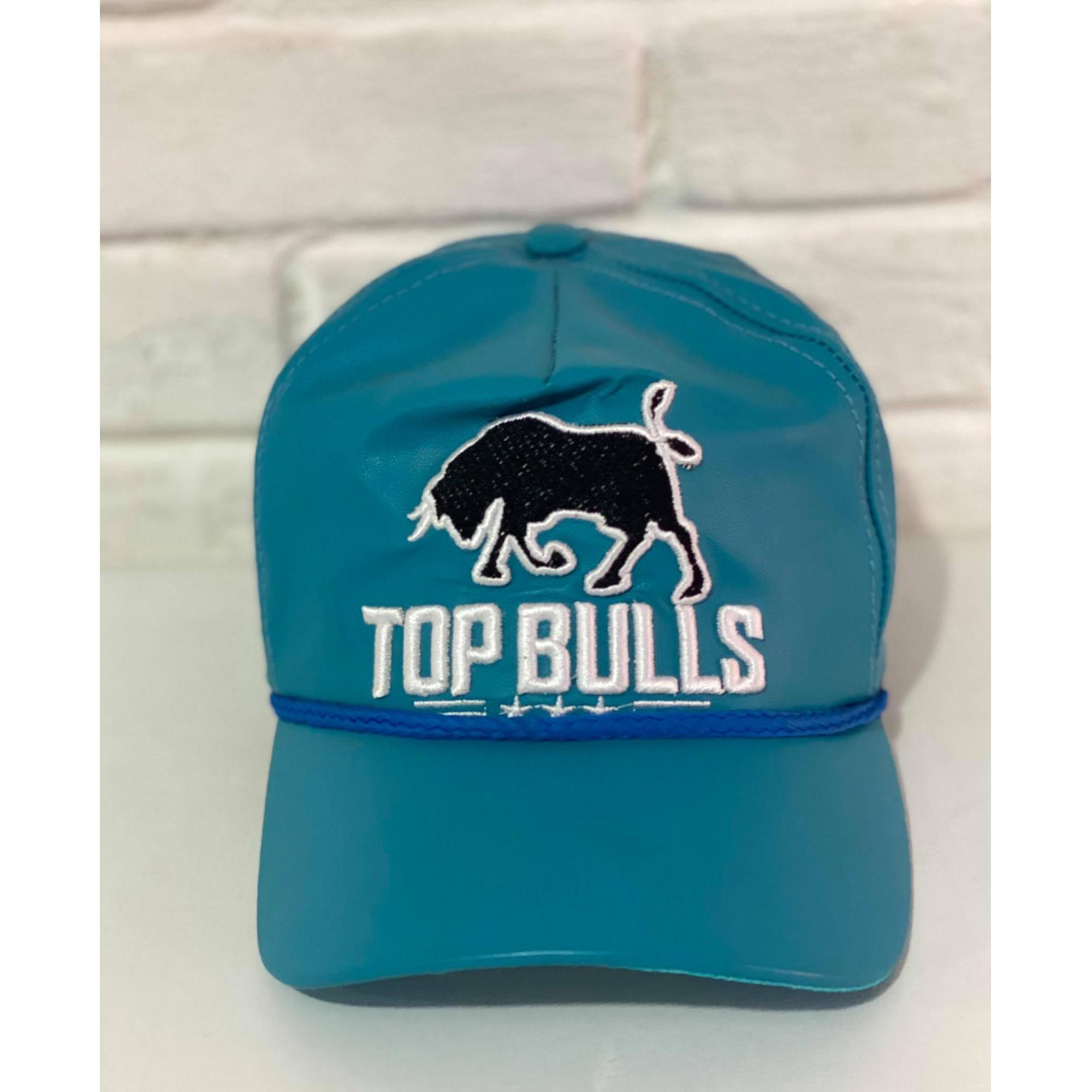 Boné Country Top Bulls Couro Azul Turquesa 1010215