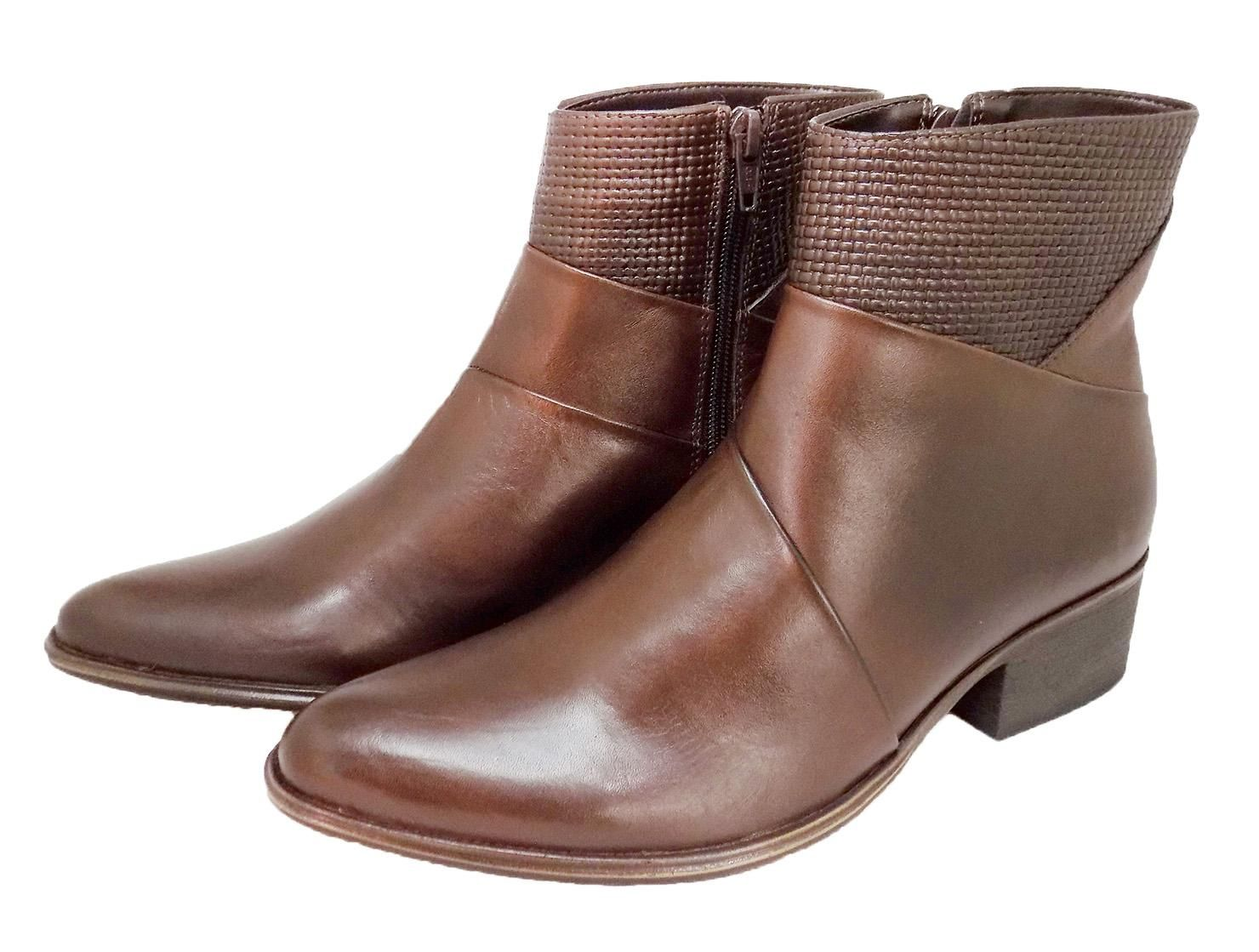 Bota Cano Curto Chocolate