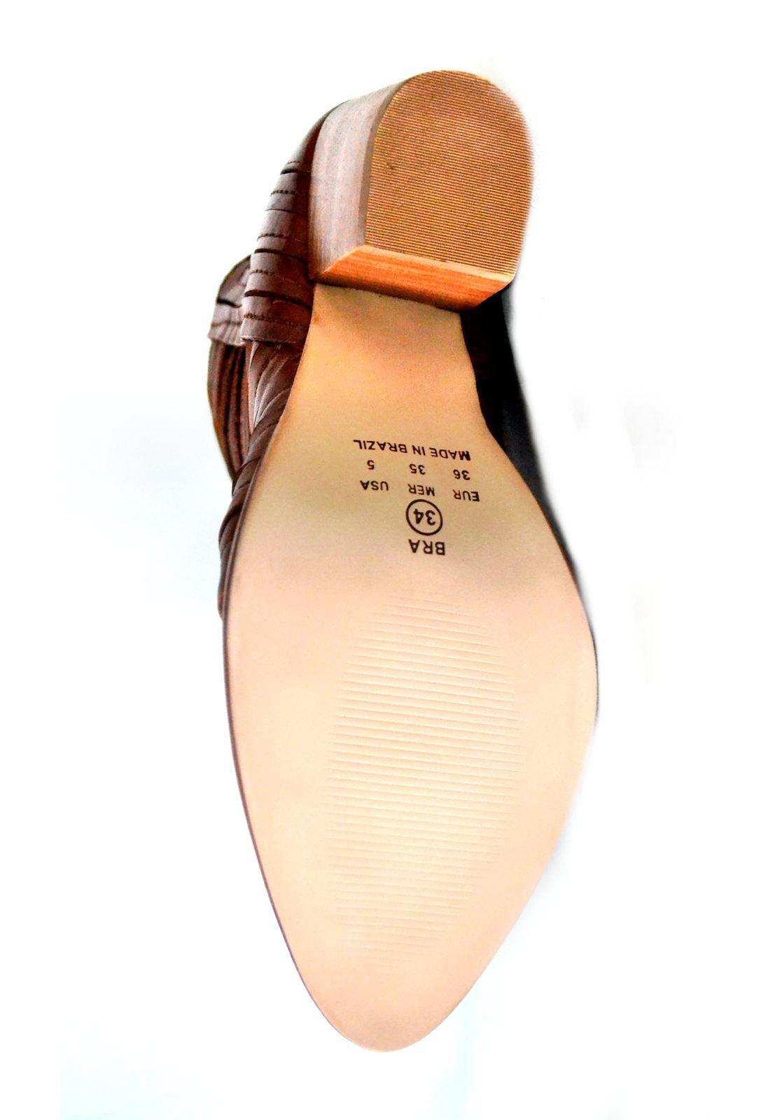 Bota Cano Curto Prata Couro Escam 1010351 Whisky
