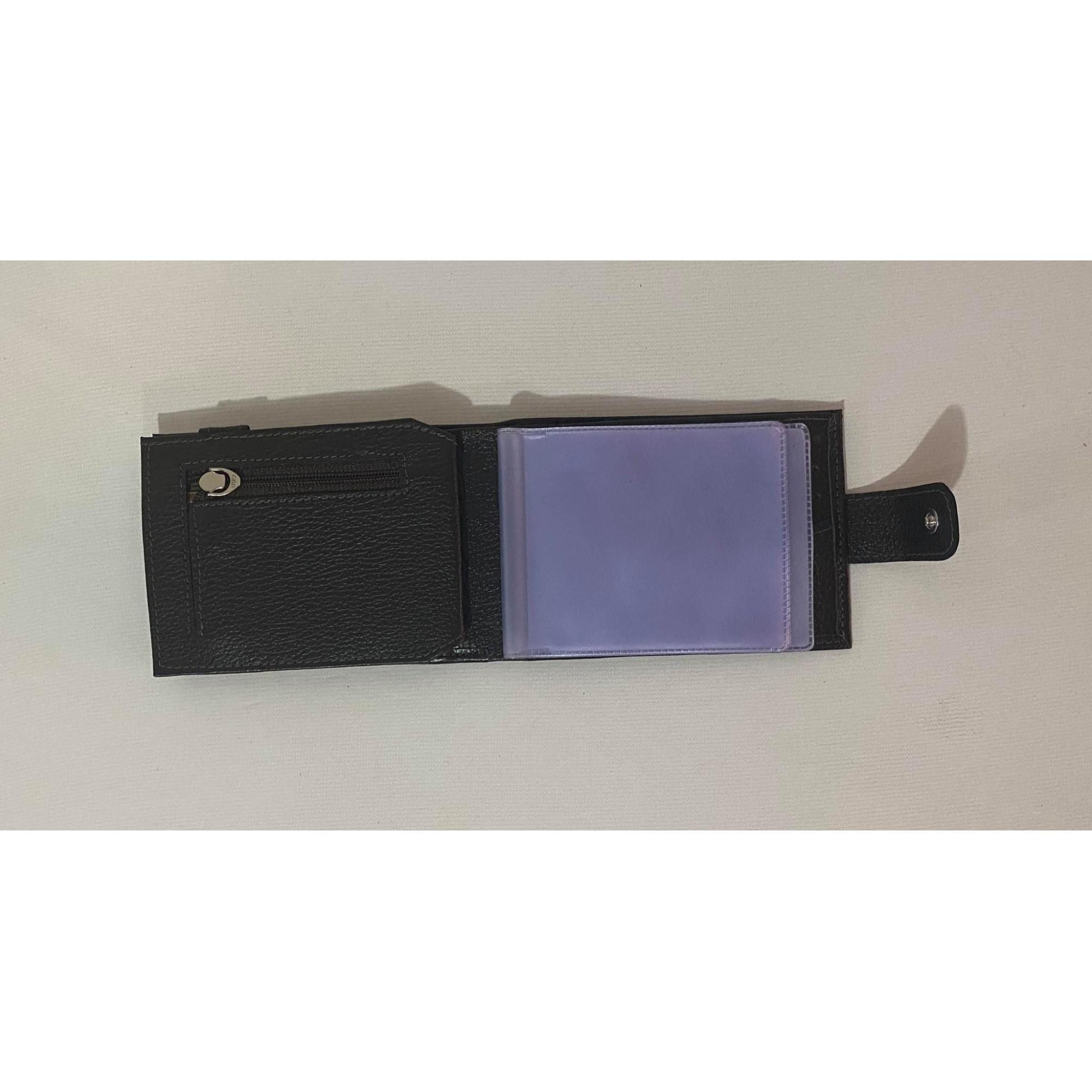 Carteira e porta cartões café 1009430