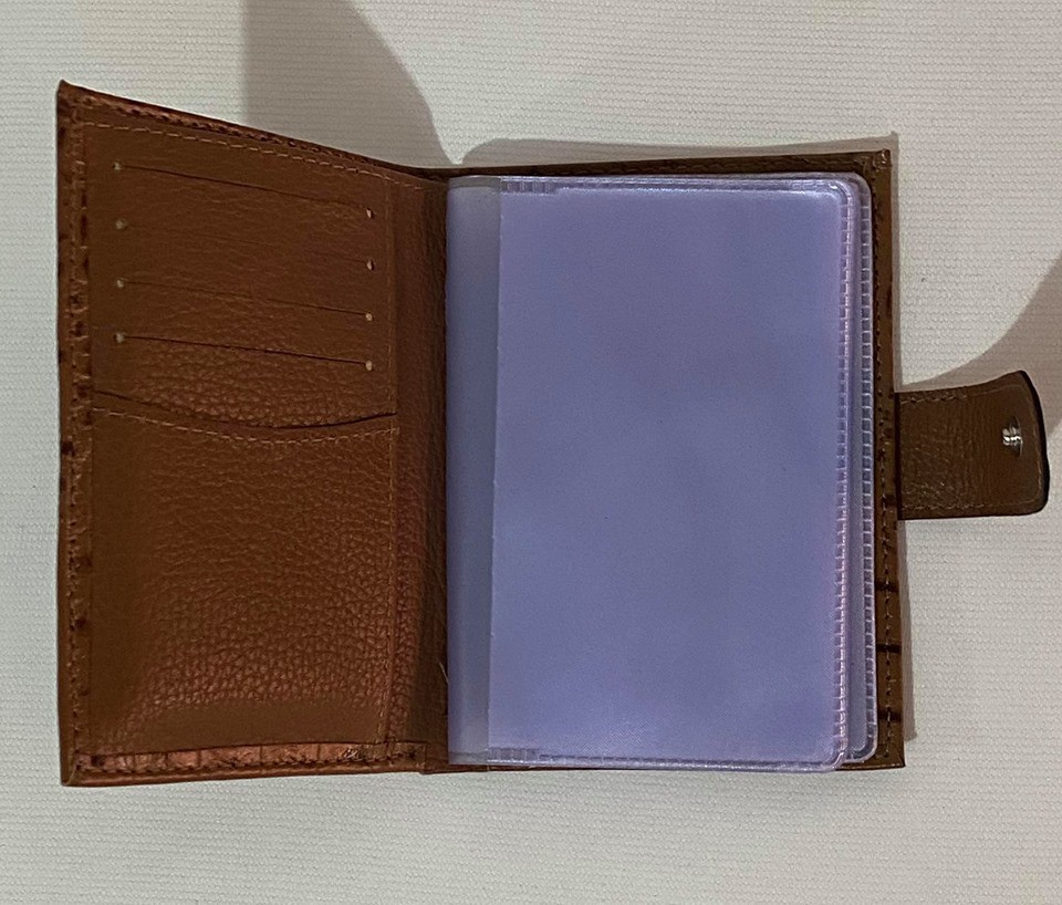 Carteira e porta cartões Croco Marrom 1010497