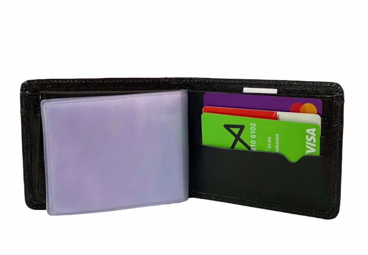 Carteira e Porta Cartões Líder Preta 1010755