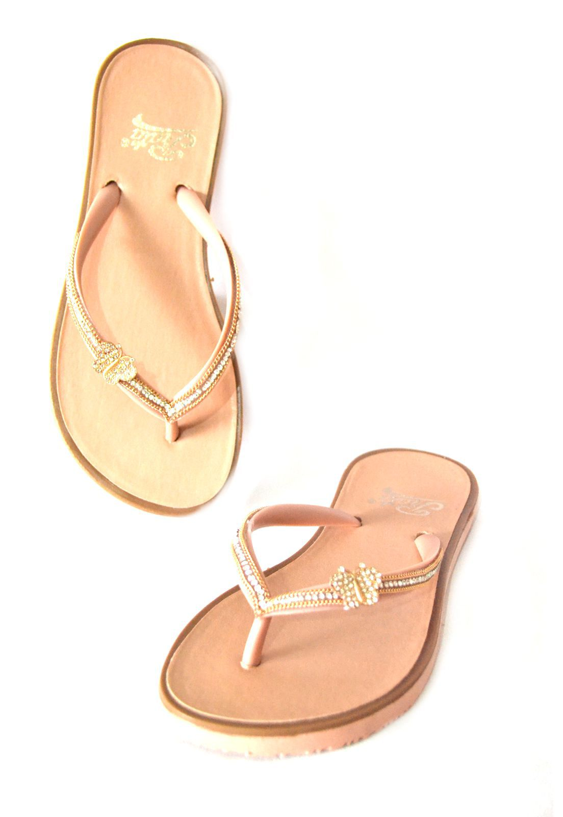 Chinelo Rasteira 1010457 Rose
