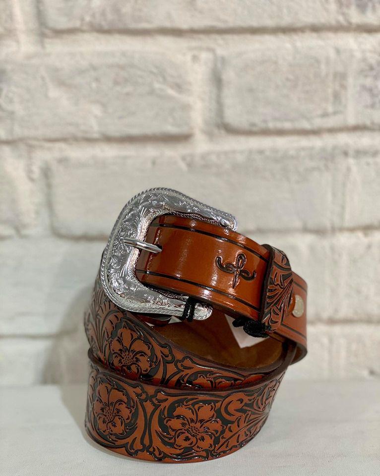 Cinto de  Couro Country Masculino Trabalhado Cincow Whisky 1009873