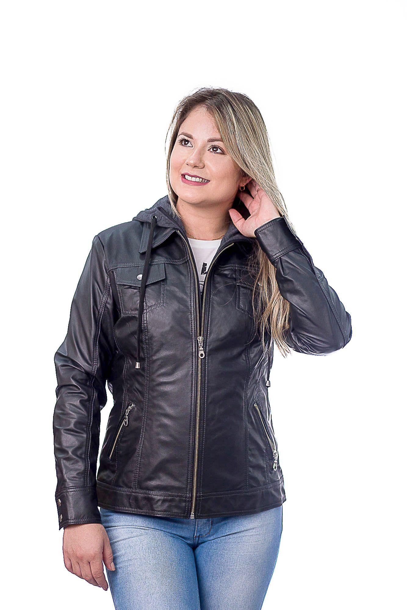 Jaqueta Feminina Capuz 192 Vest Preto