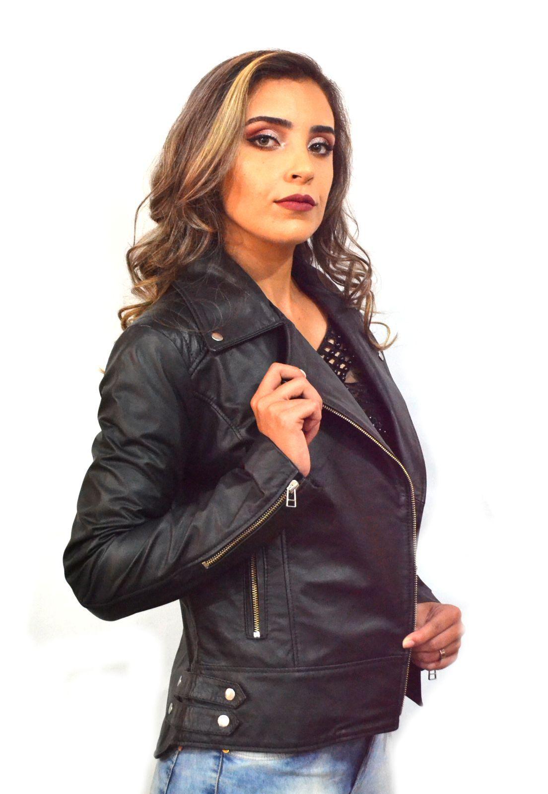Jaqueta Feminina em Couro 205 Preta