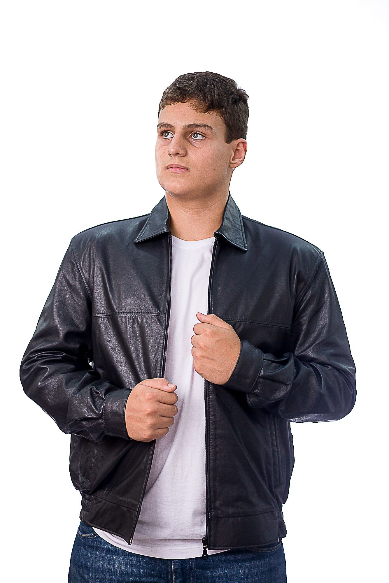 Jaqueta Masculina em Couro 630 Vest Preto