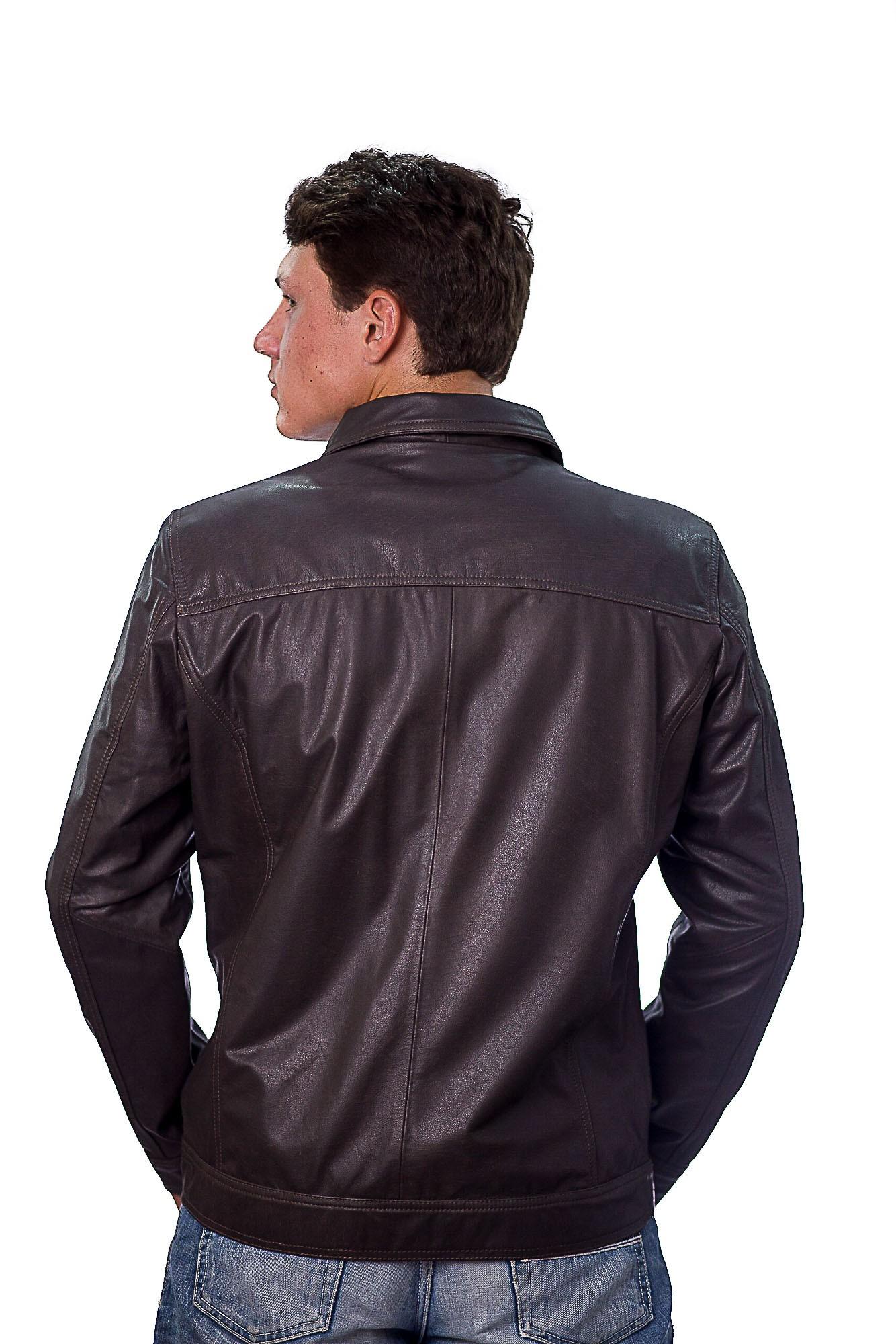 Jaqueta Masculina em Couro 765 Ranger Brown