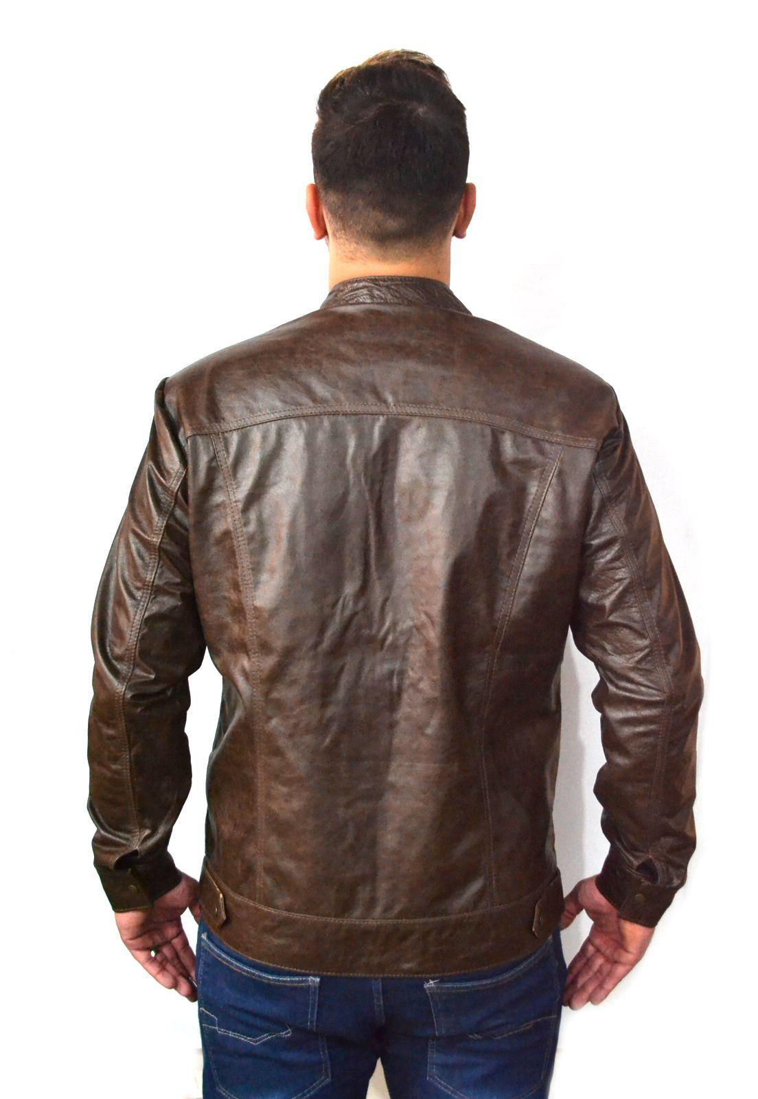 Jaqueta Masculina Slim 121 Sini Marrom  1010436