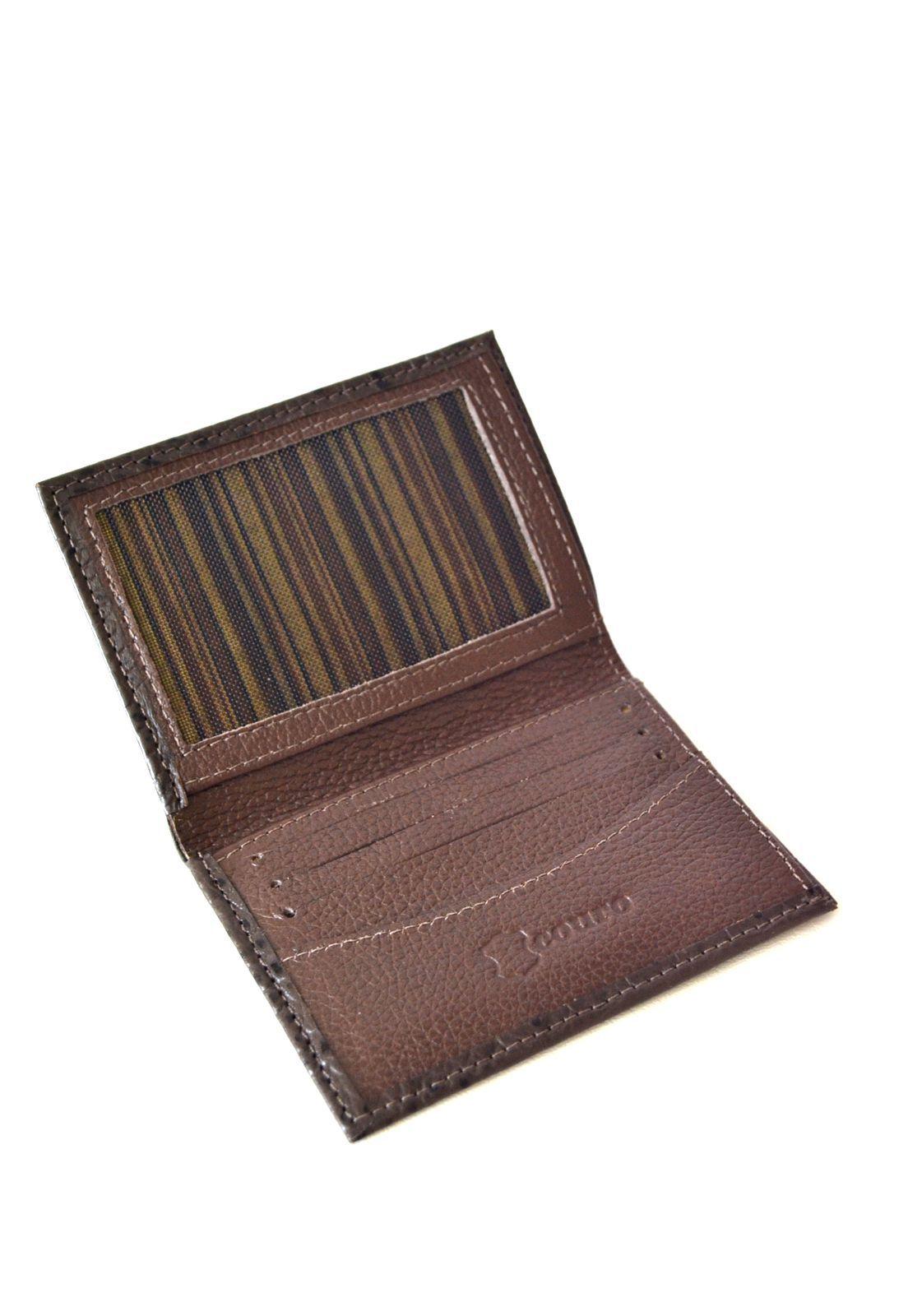 Porta cartões Croco marrom 1010463