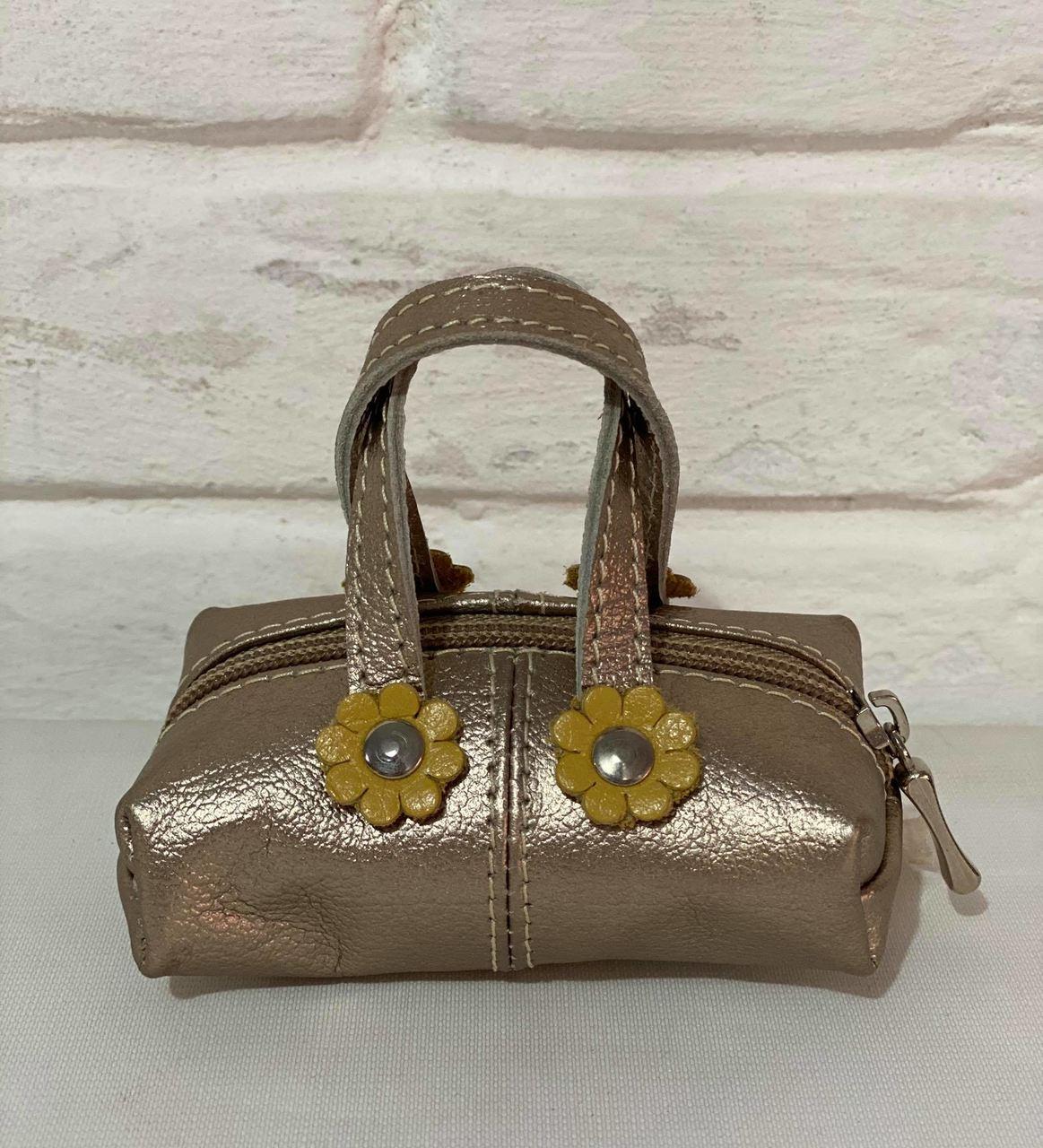 Porta Moedas Prata Couro 1009425 Dourado/Amarelo