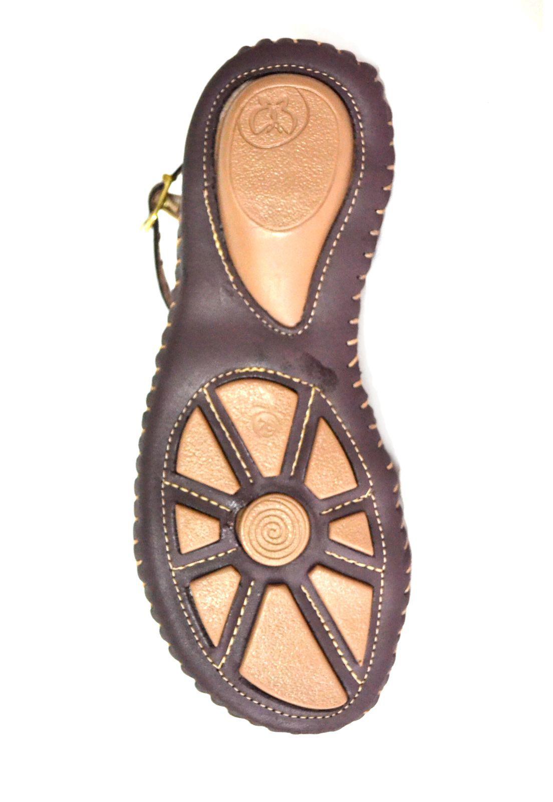 Sandália Prata Couro  Chocolate color 1009338