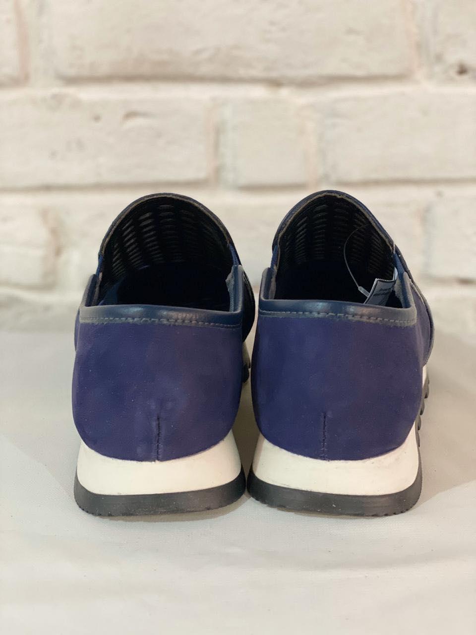 Sapatênis  Feminino Prata Couro 1010320 Azul