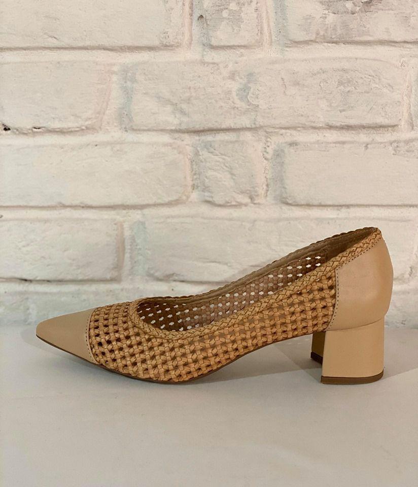 Sapato Feminino Prata Couro 1010312 Bege