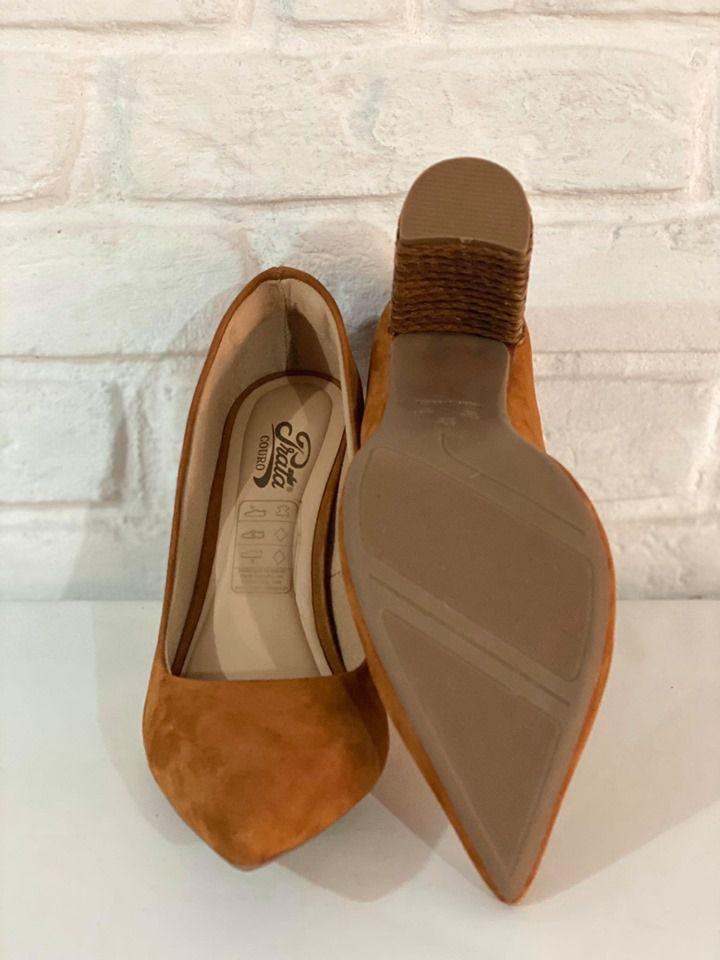 Sapato Feminino Prata Couro 1010314 Marrom
